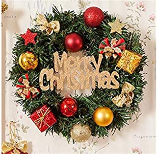 Christmas Party Colored Ball Christmas Wreath Door Hanging Ornaments Room Christmas Tree Pendants for Decoration(Green)