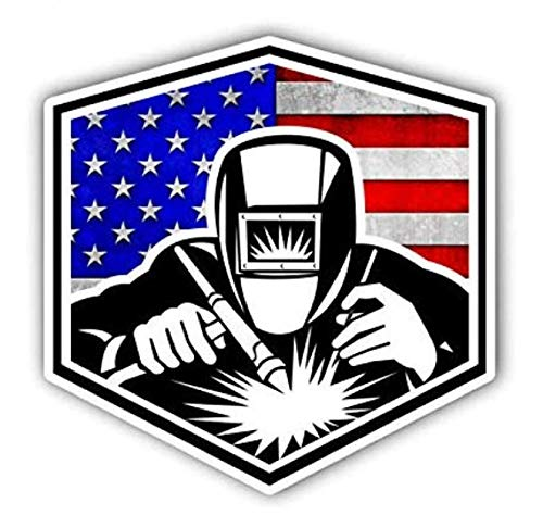 3pcs Cool Stickers | American Welder | Welding Welder Decal | Hard Hat Sticker | USA Decals Best Seller