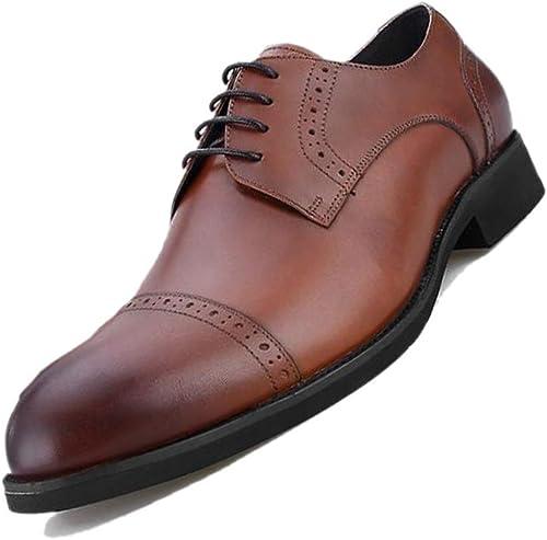zapatos De Vestir para hombres Tallados En Inglaterra De Brock Inglaterra, con Punto, Transpirables, Hechos A Mano, negro, Derby, Oficial