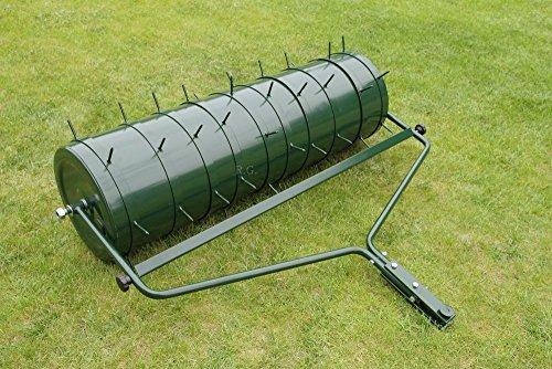 Unbekannt Gartenwalze 102cm mit 2 Areator Set Anhänge Walze Rasenwalze Rasenlüfter von rg-vertrieb