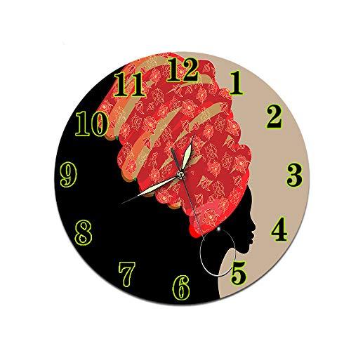 LUOYLYM Nicht Weibliche Wohnzimmer Digitale Wanduhr Wanduhr Acryl Stumm Startseite Kreative Dreidimensionale Handwerk Uhr Randlose Wecker P190430-61 (Luminous Pointer) 28cm