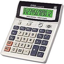 ZUZU Calculadora de Escritorio de función estándar LED luz