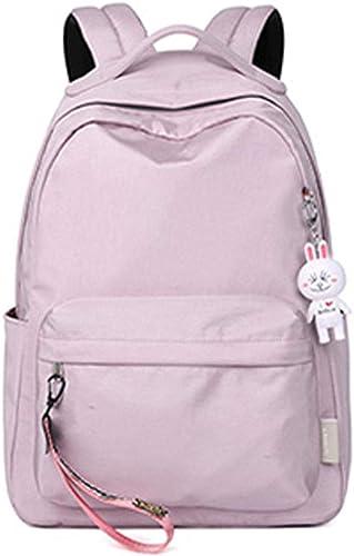 Schultasche, Studentenrucksack, l ig Rucksack, verschlei st wasserdicht, geeignet für Gymnasiasten, Gymnasiasten, 29  14  47cm, Grün, Rosa ( Farbe   Purple , Größe   291447cm )