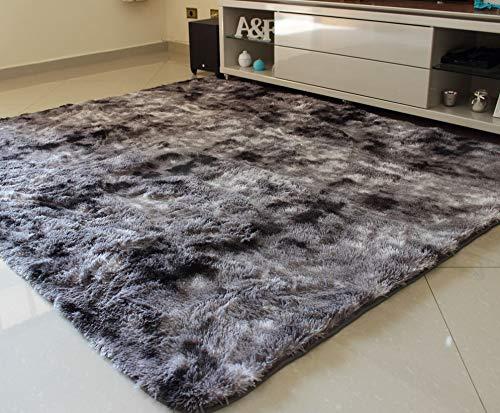 Tapete para Sala e Quarto Felpudo Cronos Casa Dona 100x150 cm Cinza
