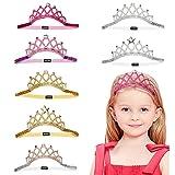 Kaimeilai Madchen Corona de 7 piezas de diadema para niños, banda elástica para el pelo, corona brillante, diadema para niñas, corona de princesa, diadema para niñas