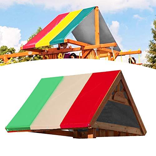 Leichtes Schaukel-Überdachung 132x226cm Outdoor-Überdachung für Einfahrt zum Verhindern von UV-Strahlen(Grüner Reis rot Farbabstimmung)