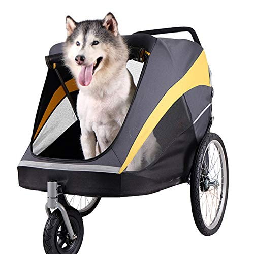 Zhengowen Pet Trolley Pet Stroller Luxury Collapsible Pet Stroller Outdoor Travel Large Dog Out Trolley Pet Four-wheeled Stroller (Color : Photo Color, Size : 100 * 78 * 96cm)