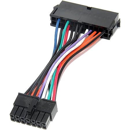に適しLenovo IBMデスクトップ・コンピューターのATX電源コードに適した24ピンから14ピンの電源延長コード…