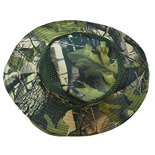 ZZWIF Mosquito Head Net Hat Camo Sun Hat Beekeeper Hat with Insect Repellent Netting Protection from Bug Bee Mosquito for Summer Outdoor Fishing Gardening Camping Hiking Beekeeping (Woodland Green)