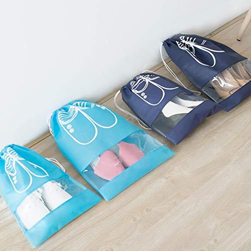 10 Sacs De Stockage Pour Le Stockage Des Sacs De Rangement Des Sacs De Voyage Chaussure De L'Épargne De L'Espace,Costume Bleu Foncé 10