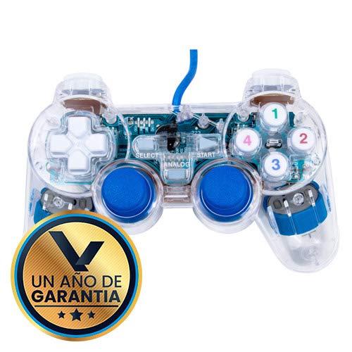 Virtual Zone Control alambrico con Luz USB Azul para Playstation 3 / PC