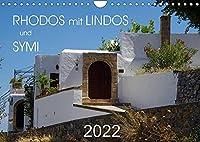 Rhodos mit Lindos und Symi (Wandkalender 2022 DIN A4 quer): Sehenswuerdigkeiten der griechischen Inseln Rhodos und Symi (Monatskalender, 14 Seiten )