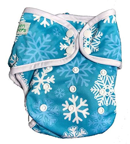 InfiniT AIO Overnight Cloth Diaper(One Size Fits 5-15 Kgs) (Let It Snow)