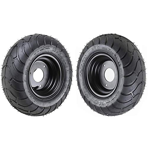 Fuerduo 2PCS 13x5.00-6 6' Wheels Tires with Rim for Go Kart Quad Trike Golf Carts 4 Wheelers