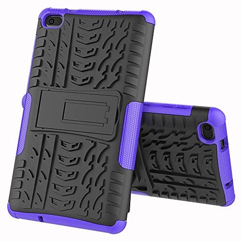 ZHIWEI Tablet PC Bolsas Bandolera Cubierta de Tableta para Lenovo Tab E7 7.0 / 7104F Textura de neumáticos TPU + PC Funda Protectora con Soporte de Mango Plegable (Color : Purple)