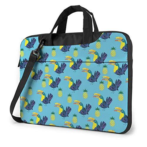 Estuche para computadora portátil de piña y tucán, Bolso de Mano para computadora de 13 Pulgadas, maletín de Mensajero para Viajes de Negocios