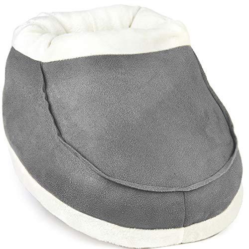 Scaldapiedi - Senza elettricità o USB - Calore istantaneo - Tieni caldi i piedi e le caviglie - Soluzione a cattiva circolazione, artrite ai piedi - Uso a casa o al lavoro (Grigio)