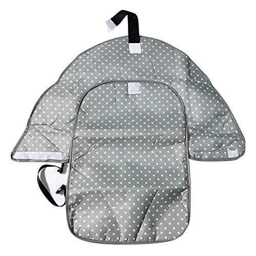 HU Wickelauflage BabyTragbare Windel-ändernde Auflage-Kupplung für Säuglings Faltbare Saubere Hände Wickelstation Kit Flexible Reise Mat Baby Care,Grau