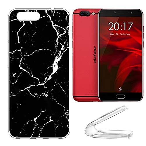 vingarshern Handyhülle Kompatibel mit Ulefone Gemini Pro Hülle Silikon Bumper Hülle,Dünne Flex Weich Fallschutz Silikonhülle Stoßfest Back Cover (Marmor Muster 02)