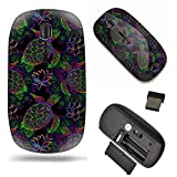 Unique Pattern Optical Mice Mobile Wireless Mouse 2.4G Portable for Notebook, PC, Laptop, Computer - Psychedelic Sea Turtle, Lotus and Mandala?