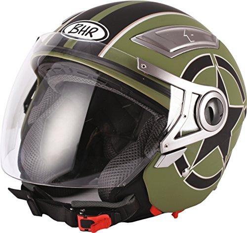 BHR 93292 Casco, Diseño Star Verde, Talla 59-60