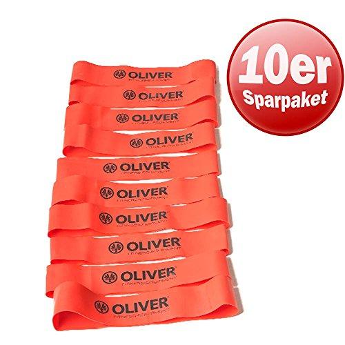 10er Paket OLIVER Rubber O rot/stark
