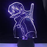 BTEVX Acrylic 3D Lamp for Kid Itachi Anbu LED Anime Lamp Naruto Figure Nightlight Bedroom Decor Anime Light (Emitting Color : with A Controller)-with A Controller