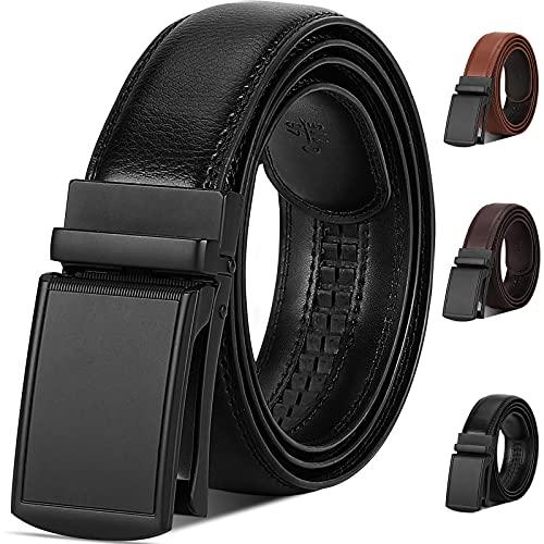 NUBILY Gürtel Herren Leder Automatik Gürtel für Männer Ledergürtel Herren Breit 35mm Business Anzug Gürtel