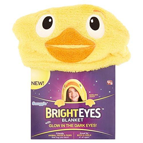 Snuggie Bright Eyes Kids Duck Deluxe Glow in The Dark Eyes Blanket -  Trademark GLB, 80-29326