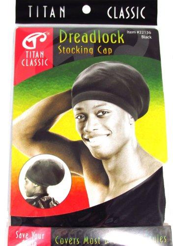 Titan Classic Dreadlock Stocking Cap #22136 (Black) by Titan Classic
