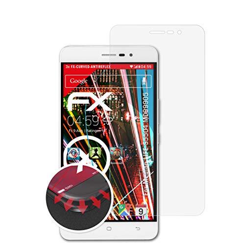 atFolix Schutzfolie kompatibel mit Medion Life S5504 MD99905 Folie, entspiegelnde & Flexible FX Bildschirmschutzfolie (3X)