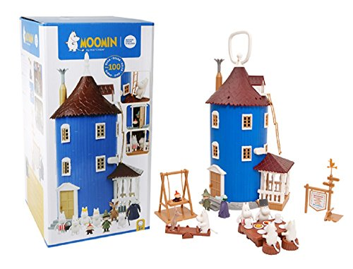 Moomin (Mumins) Moomin org. Haus + Figuren Set ca:38cm