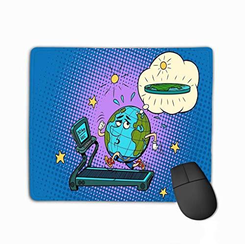 Muiskussen, verdrietig Vet Aarde Loopband Droom om gewicht te verliezen Sport Fitness Gezond Levensstijl Sport Fitness Gezond Levensstijl Comic