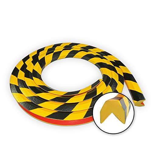 Betriebsausstattung24® Eckschutzprofil Typ AA | gelb/schwarz | selbstklebend | Länge: 5,0 m
