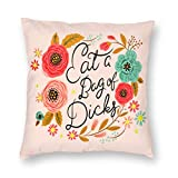 antcreptson Eat A Bag of Dicks Throw Pillow Decorative Pillow Case Home Decor Square 18x18 Inches Pillowcase