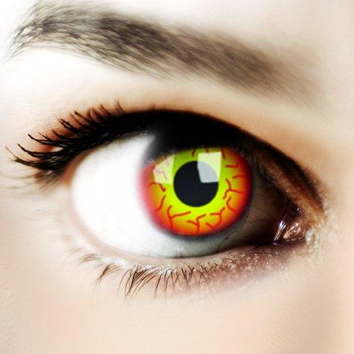 Halloween Kontaktlinse Lustige Linse Darth Maul Jährliche Einweg 14 mm stärke 0.00 von ColourVUE