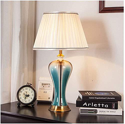 Douerye Mesa y lámpara de Mesa lámpara de Mesa de Noche, lámpara de Noche Dormitorio de la lámpara China Sencilla lámpara de la Sala de Estar lámpara de cerámica, lámpara de Mesa,Yellow