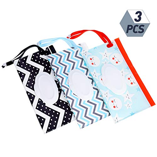 Shilia 2 stks/3 stks Draagbare Wet Tissue Box, eco-vriendelijk Herbruikbaar en navulbaar Baby Reizen Luier Tissue Houder Stijl2