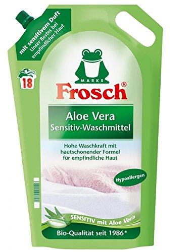 Frosch Waschmittel Aloe Vera flüssig 2er Pack, (2x1,8L)