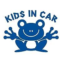 imoninn KIDS in car ステッカー 【シンプル版】 No.22 カエルさん (青色)