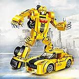 joylink Juguete de Coche de Robot 2 en 1 Coche de Deformacion para Niños Juego Regalo de Navida Cumpleaños - Juguete de Coche de Robot para Niños Edad 4-14 Año (Amarillo)