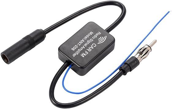 XCSOURCE Antena Coche Amplificador Radio Antena en línea de automóvil Radio aérea Amplificador de señal Am/FM 48-860MHz MA799