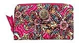 Vera Bradley RFID Turnlock Wallet, Sunburst Floral, 7.5'L x 4.5'H x .75'W