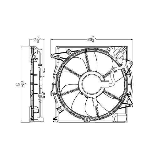 PartsChannel HY3115153 OE - Ventilador de repuesto para motor