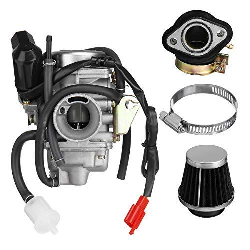 NICOLIE Carburador Gy6 125Cc 150Cc con Filtro De Aire Compatible con Go Kart Scooter 152Qmi 157Qmj Pd24J