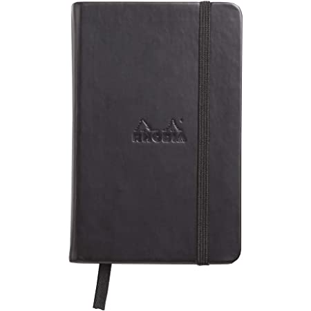 Rhodia Black Unlimited Notebook 3.5X5.5 Lined