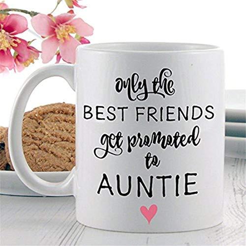Zwangerschap aankondiging geschenken - alleen de beste vrienden krijgen gepromoveerd tot tante koffie mokken thee mokken novelty mokken citaat mokken zwangerschap geschenken