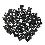 freneci 100x Holz Buchstabenfliesen Holzblöcke Fliesen Fit für Die Frühkindliche Bildung