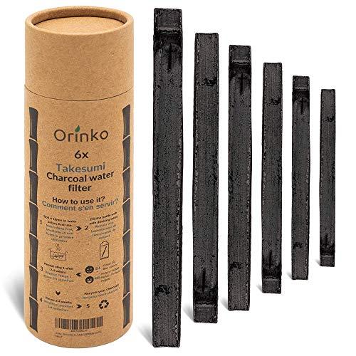 orinko - Binchotan Bio 6X | Charbon Actif Takesumi de Bambou pour Purification d'eau | Passez-Vous des Eaux en Bouteille avec Notre Charbon Actif [𝗦𝗮𝘁𝗶𝘀𝗳𝗮𝗶𝘁 𝗼𝘂 𝗥𝗲𝗺𝗯𝗼𝘂𝗿𝘀𝗲]