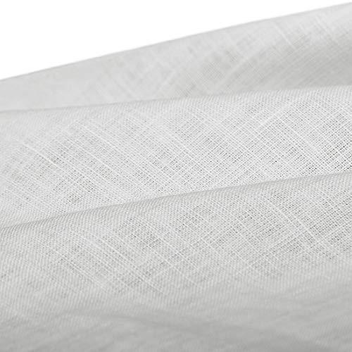 Cuore di lino - L105-1 Tessuto in Puro Lino 100% h 150 Bianco Panna 150 g/mq